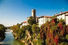 Dal ponte del diavolo di Cividale del Friuli immagine stock