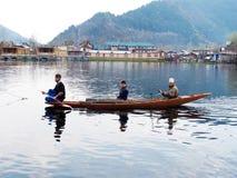 Dal See - Srinagar Kaschmir stockfotos