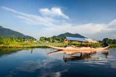 Dal sjö på Srinagar, Kashmir, Indien Arkivfoton