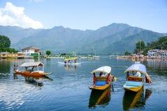 Dal sjö på Srinagar, Kashmir, Indien Arkivfoto