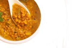 Dal soczewicy curry'ego Indiańska polewka zdjęcie stock