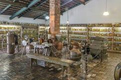DAL VERDE, BETIM, Brasilien-museum av cachacaen fotografering för bildbyråer