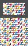 Dala horse colorful eye vertical seamless pattern Royalty Free Stock Photo