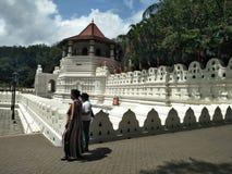 Dalada寺庙在斯里兰卡 图库摄影
