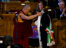 dalai его lama святости Стоковое Изображение