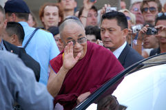 Dalai Lama à Copenhague Image libre de droits