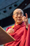 Dalai Lama στη σκηνή Στοκ εικόνα με δικαίωμα ελεύθερης χρήσης