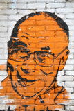 Dalai Lama. Graffiti show the 14th Dalai Lama: Tenzin Gyatso and is part of the social campaign Free Tibet. Wall graffiti in Warsaw, Poland Stock Image