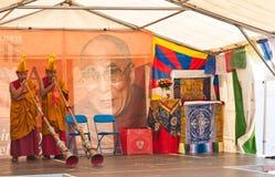 Dalai Lama 75. Geburtstagfeiern lizenzfreies stockfoto