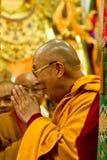 Dalai Lama geeft zijn zegen Royalty-vrije Stock Afbeelding