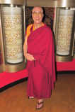 Dalai Lama na senhora Tussaud Foto de Stock
