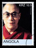 Dalai Lama Postage Stamp fotografía de archivo