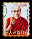 Dalai Lama Postage Stamp royalty free illustration