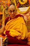Dalai Lama undervisar i Dharamsala, Indien, Septemeber Julian_Bound 2014 c Arkivbilder