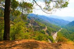 Dalaman - Gocek sobre el paso de montaña Fotos de archivo