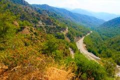 Dalaman - Gocek sobre a passagem de montanha Fotografia de Stock Royalty Free