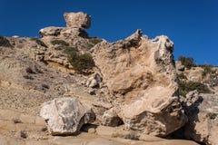 dalar för sten för avsatsbergkant steniga Arkivfoton