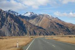 Dalar New Zealand för Mt Tasman royaltyfri fotografi