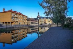 Falun city, Sweden. Dalarna cityscape and beautiful architecture stock images
