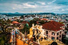 dalat Βιετνάμ 23 Ιανουαρίου 2019 Κρεμάστε Nga guesthouse, τρελλό σπίτι, σε Dalat, Βιετνάμ στοκ φωτογραφίες
