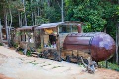 DALAT, ΒΙΕΤΝΆΜ - 17 Φεβρουαρίου 2017: Ο καταπληκτικός προορισμός για τον τουρισμό του Βιετνάμ, έργο της τέχνης ξέρει ως σήραγγα γ στοκ εικόνα