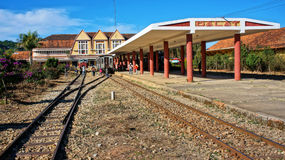 Dalat ancient  station in Vietnam Stock Images
