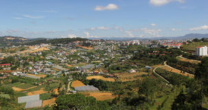 Dalat in Central Vietnam aerial view Stock Photos