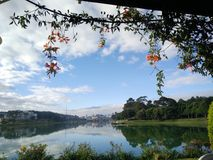 Dalat city of flower. Xuan Huong lake Stock Photos