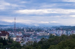 Dalat city from high view in early morning Royalty Free Stock Photography