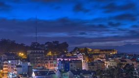 The city at sunset. Dalat city at sunset is beautiful Royalty Free Stock Photography
