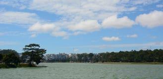 Dalat city with Xuan Huong lake in Lam Dong, Vietnam Royalty Free Stock Images