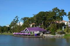 Dalat city and Xuan Huong lake in Vietnam Stock Images