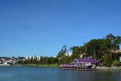 Dalat city and Xuan Huong lake in Vietnam Stock Image