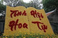 Dalat flower park. Dalat great flower park Stock Photo
