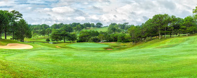 Dalat golf panorama sunny day Royalty Free Stock Photo