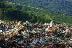People pick up garbage at dumping ground. DALAT, V Stock Images