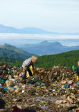 People pick up garbage at dumping ground.DALAT, VI Royalty Free Stock Images