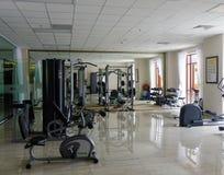 Gym room of luxury hotel in Dalat, Vietnam. Dalat, Vietnam - Aug 17, 2017. Gym room of luxury hotel in Dalat, Vietnam. Da Lat is a popular tourist destination Stock Photography