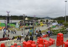 Dalat Flower Festival Main Stage Stock Photo