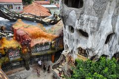 Crazy House - hotel in Dalat stock photos