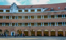Old school in Dalat, Vietnam stock images