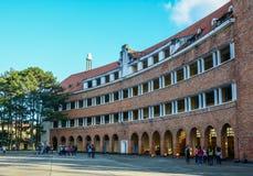 Old school in Dalat, Vietnam stock image