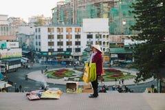 Dalat życie w ranku, Wietnam Zdjęcia Royalty Free