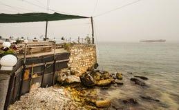 Dalboka - Tweekleppig schelpdierlandbouwbedrijf en Restaurant, Bulgarije Royalty-vrije Stock Foto's