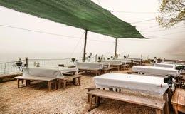 Dalboka - Tweekleppig schelpdierlandbouwbedrijf en Restaurant, Bulgarije Stock Fotografie