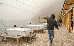 Dalboka - Tweekleppig schelpdierlandbouwbedrijf en Restaurant, Bulgarije Stock Foto's