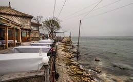 Dalboka - Tweekleppig schelpdierlandbouwbedrijf en Restaurant, Bulgarije Royalty-vrije Stock Fotografie