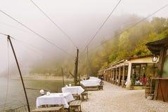 Dalboka - Tweekleppig schelpdierlandbouwbedrijf en Restaurant, Bulgarije Royalty-vrije Stock Afbeeldingen