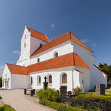 Dalby Kloster. The white stone kloster at Dalby in the Skane region of Sweden royalty free stock image