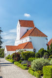 Dalby Monastery. The white stone kloster at Dalby in the Skane region of Sweden stock photography